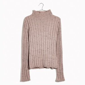 Madewell Pink Donegal Evercrest Turtleneck Sweater
